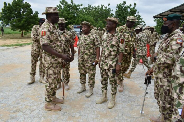Theatre Commander (TC) Headquarters Joint Task Force North East, Operation HADIN KAI (OPHK), Major General Christopher Musa with the troops