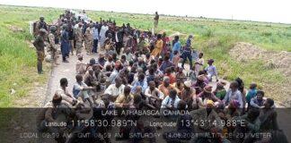 Surrendered Boko Haram members