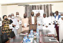 Professor Pantami and CEOs at Book Presentation at PRNigeria Centre, Wuye District Abuja