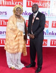 A Nollywood Actor Segub Arinze with a Guest at Thinkers Award