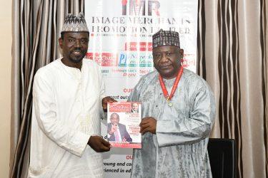 BPSR DG Dasuki Arabi with Yushau A. Shuaib of IMPR at PRNigeria Centre, Abuja