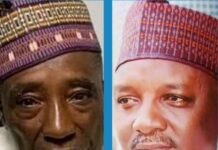 Sacked Ministers Mohammed Nanono of Agriculture and Saleh Mamman of Power