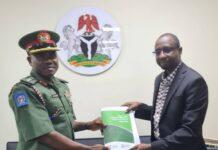 NASPRI Commandant, Colonel Aliyu Yusuf and DG NITDA Kashifu Inuwa