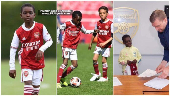 Munnir Sada at Arsenal