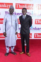 Yushau Shuaib with Business Manager Saad Yushau at Thinkers Awards