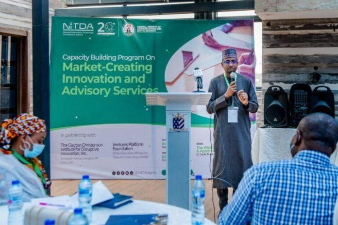 DG NITDA, Kashifu Inuwa Abdullahi speaking at Market-Creating Innovation and Advisory Service programme for civil servants in Abuja