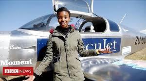 African Teenagers Plane