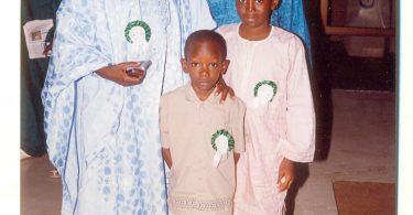 Garba Shehu, Yushau Shuaib and Children at presentation of a book A Dozen Tips for Media Relations by YAShuaib in Abuja 2005