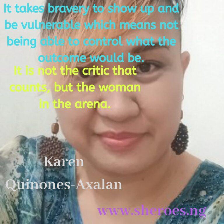 Sheroes Quote: Karen Quinones-Axalan