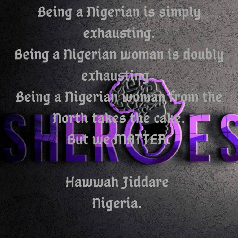 Sheroes Quote: Hawwah Jiddare