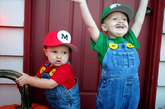como fazer fantasia do Mario e Luigi