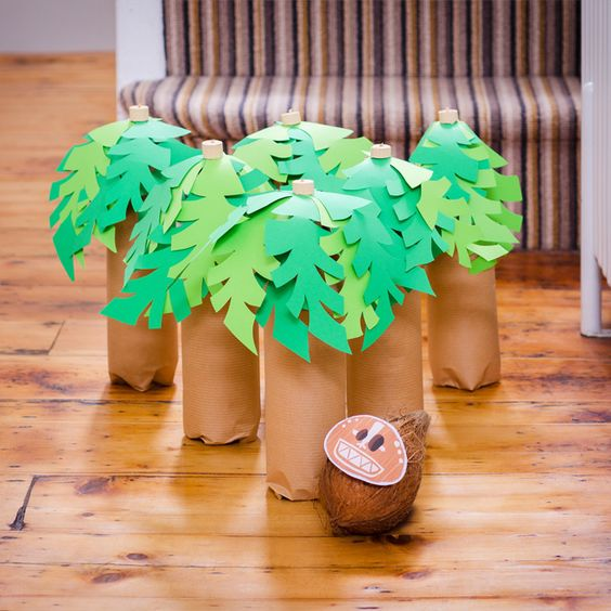 About hawaiian centerpieces on pinterest party decoration picture - Festa Moana Um Mar De Aventuras Ba 250 De Menino
