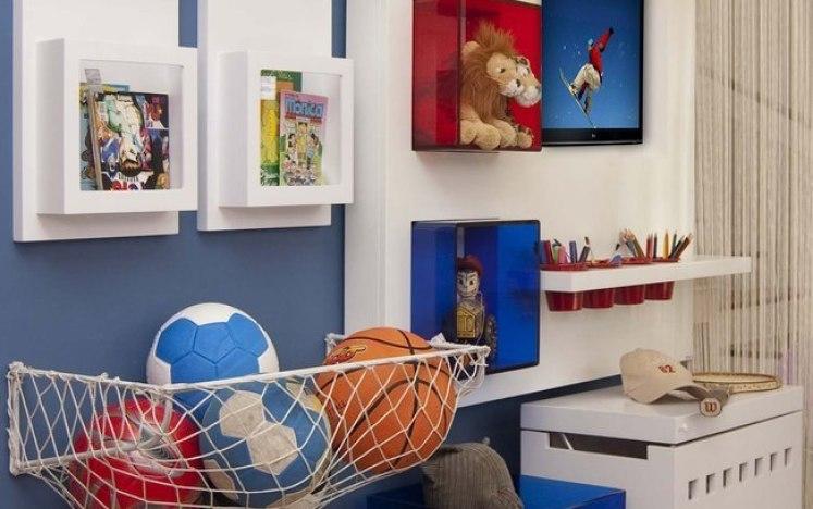 como organizar as bolas no quarto das crianças