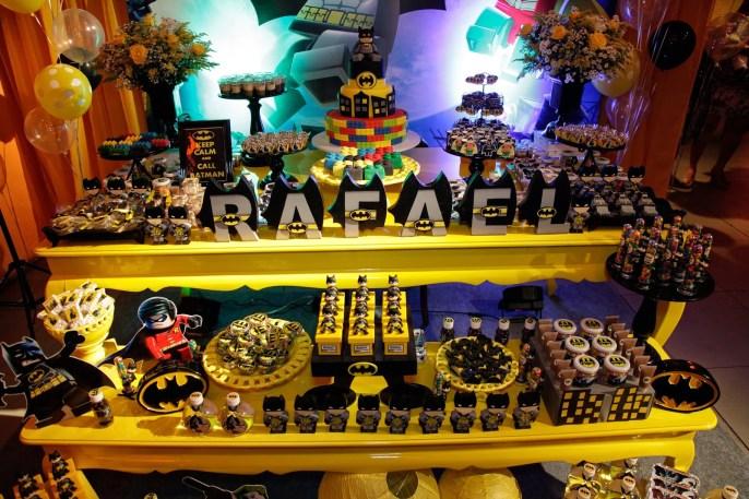 decoação festa lego batman
