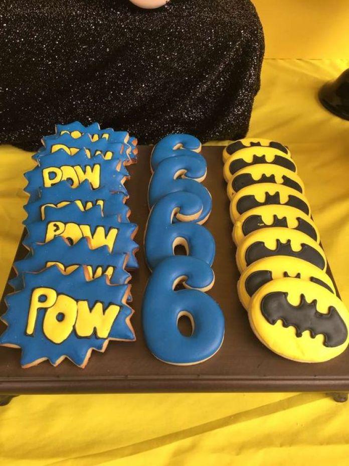 biscoitos festa lego batman
