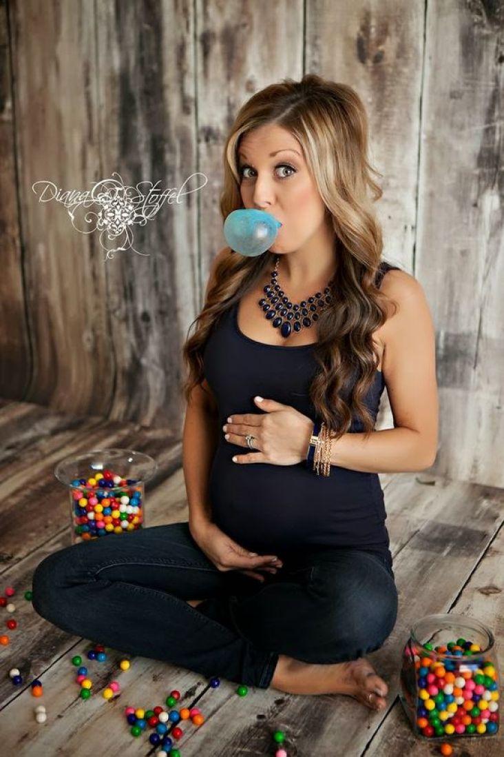 foto para revelar sexo do bebê com chiclete