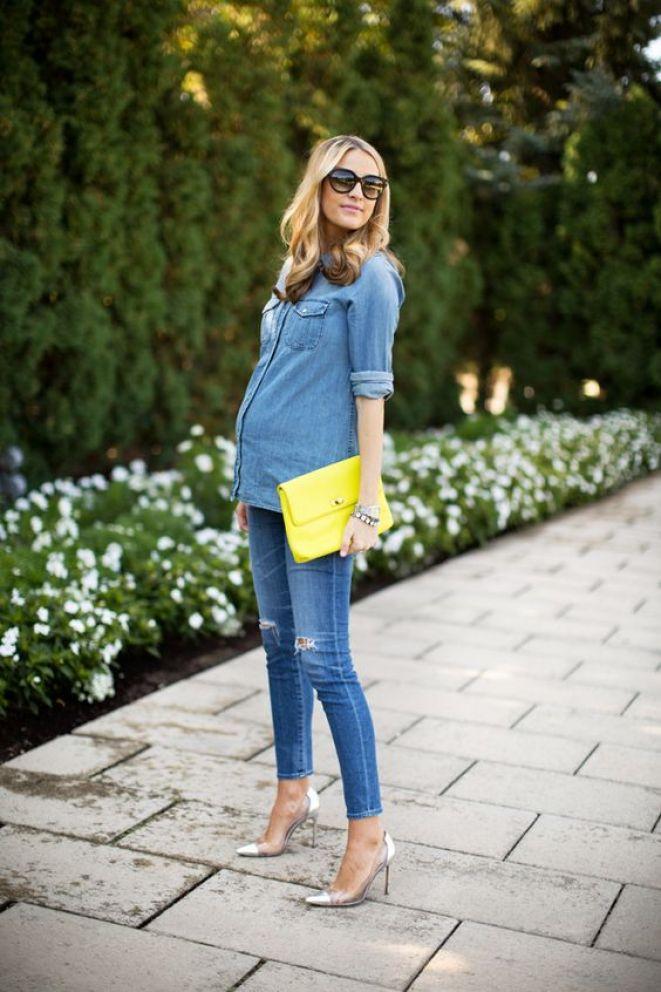 Look jeans para grávida