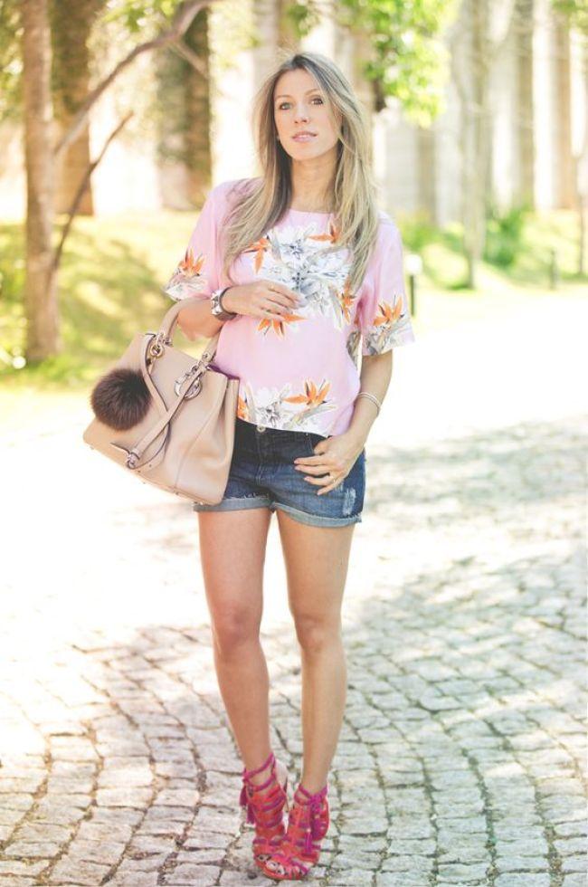 shorts jeans para grávidas