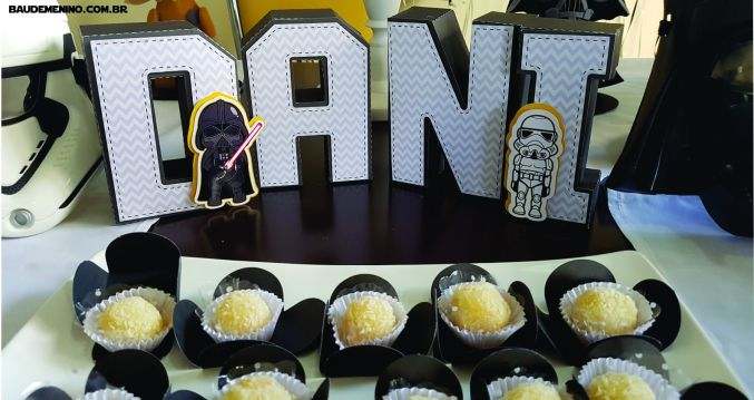 letras 3D festa Star Wars do Daniel