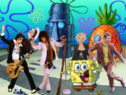 Músicos do Aerosmith, Bowie, Cyndi Lauper, entre outros no musical do Bob Esponja
