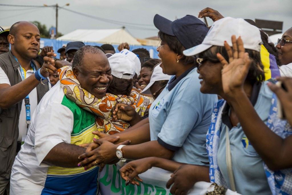 Ali Bongo en meeting de clôture au stade Nzeng-Ayong à Librevill-Baudouin MOUANDA 50_1