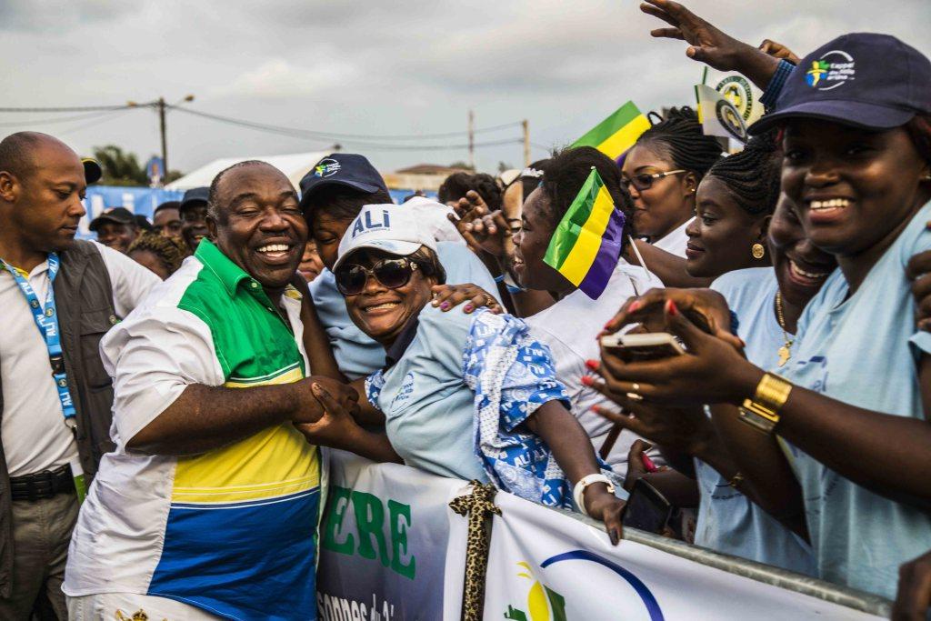 Ali Bongo en meeting de clôture au stade Nzeng-Ayong à Librevill-Baudouin MOUANDA 53_1