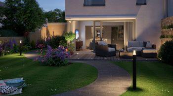 Licht schafft Stimmungen - erst recht im Outdoor-Wohnzimmer. Hier sorgt die Beleuchtung auf Terrasse und Gartenwegen für eine heimelige Atmosphäre.