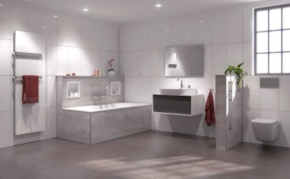 Badezimmersanierung mit Glaslaminat