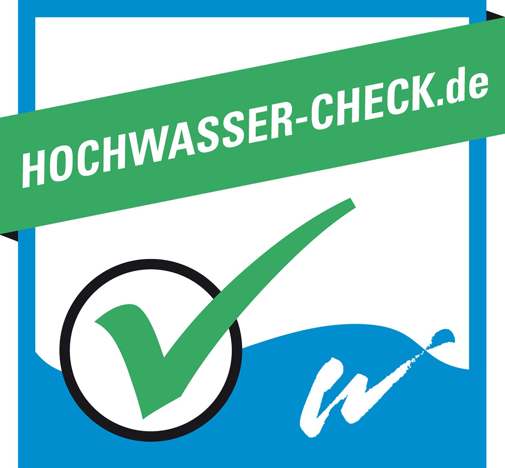 Siegel zum Hochwasser-Check
