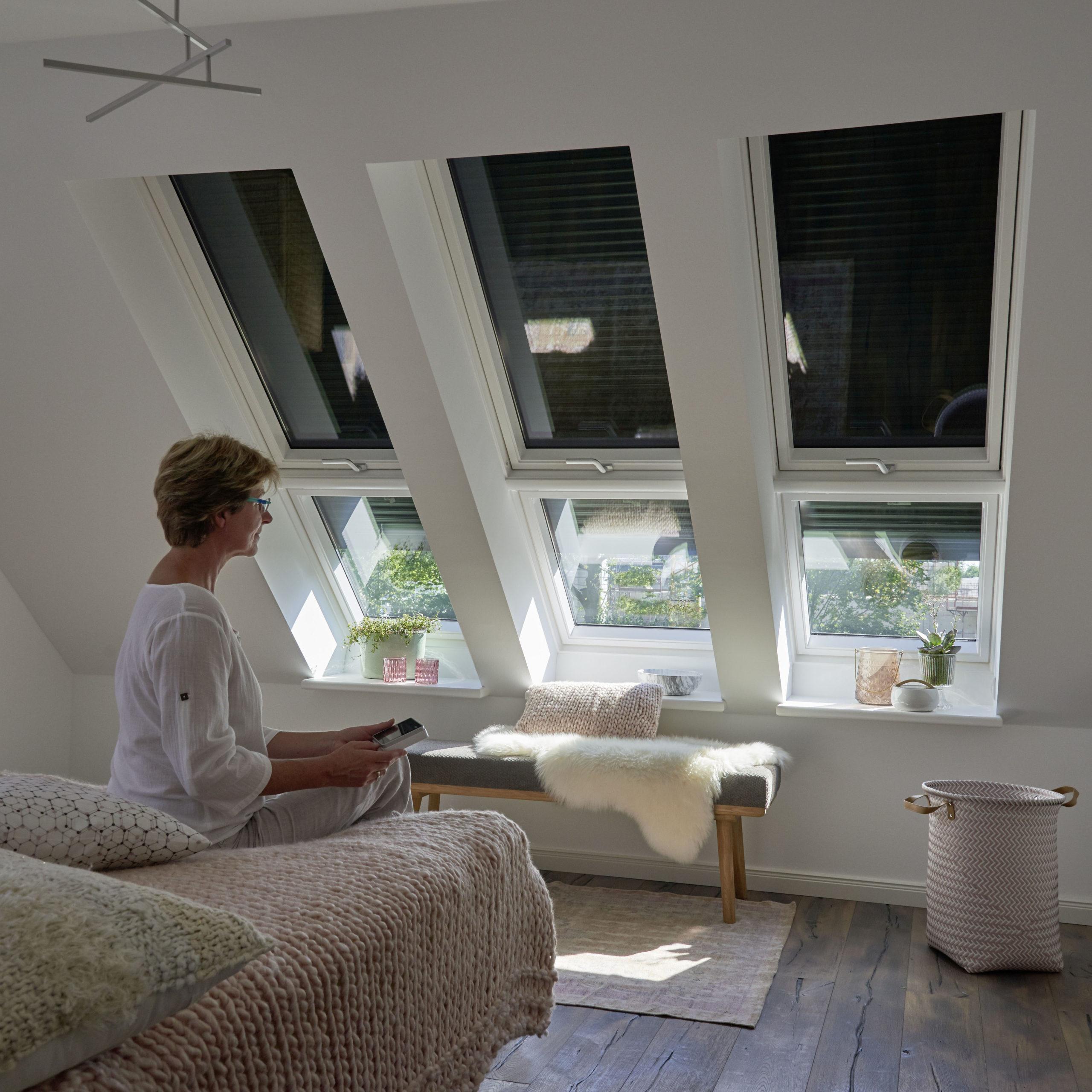 Raum-Klimageräte im Dachgeschoss