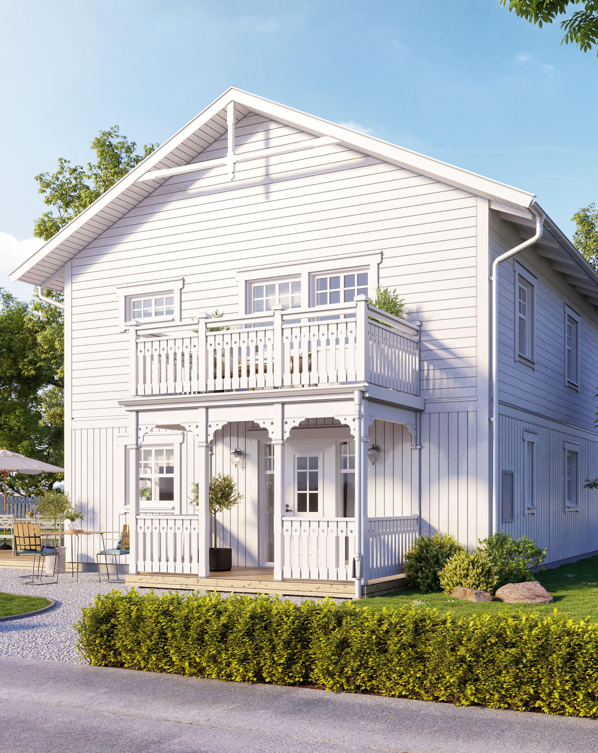 Skandinavische Häuser