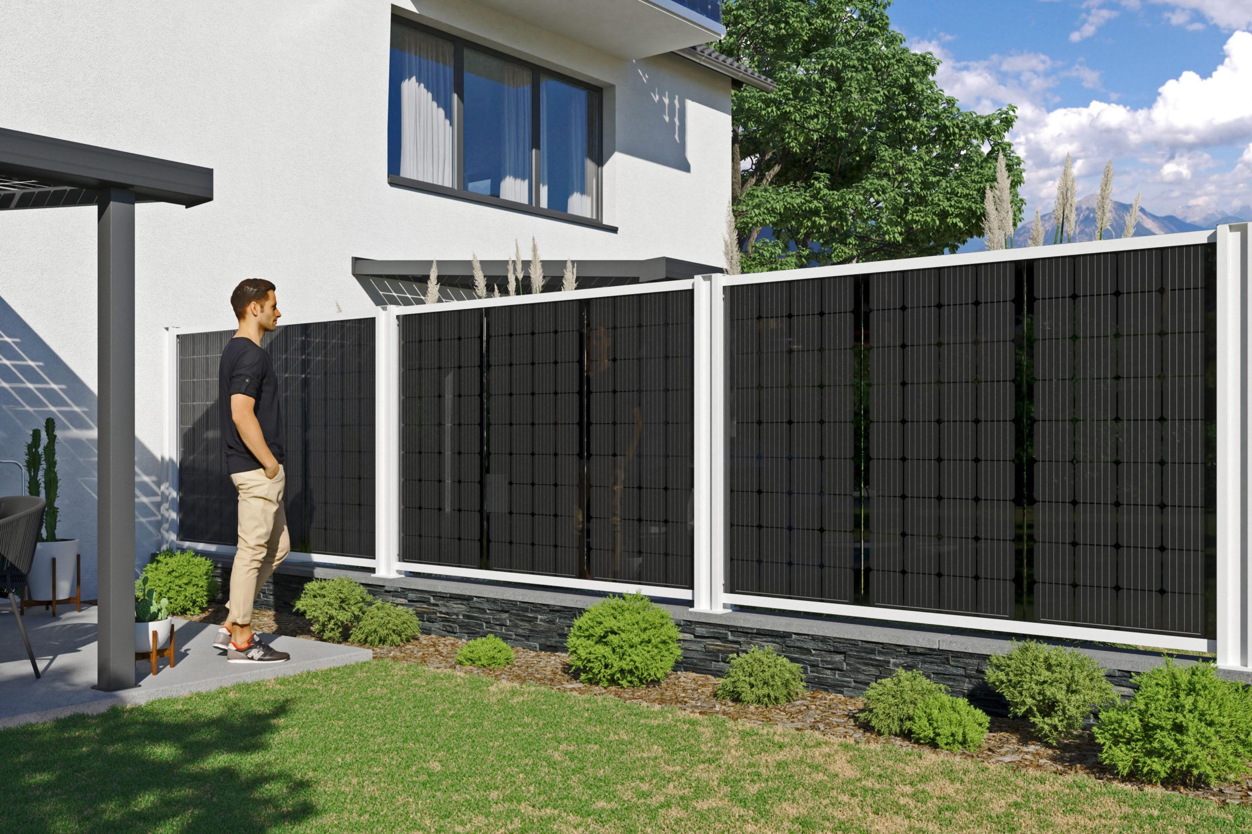 Sichtschutz mit Solargewinn