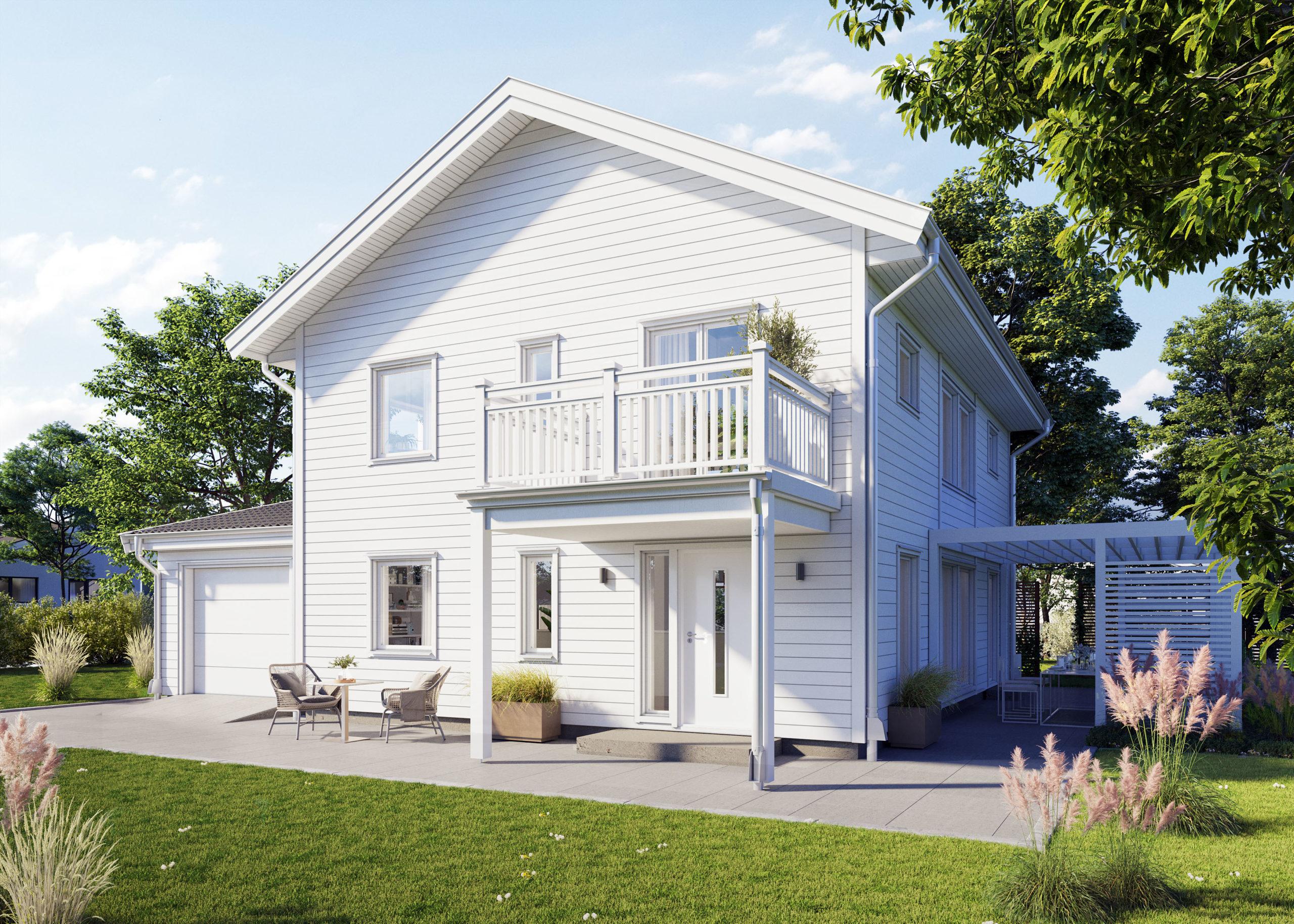 Holzhäuser im schwedischen Stil