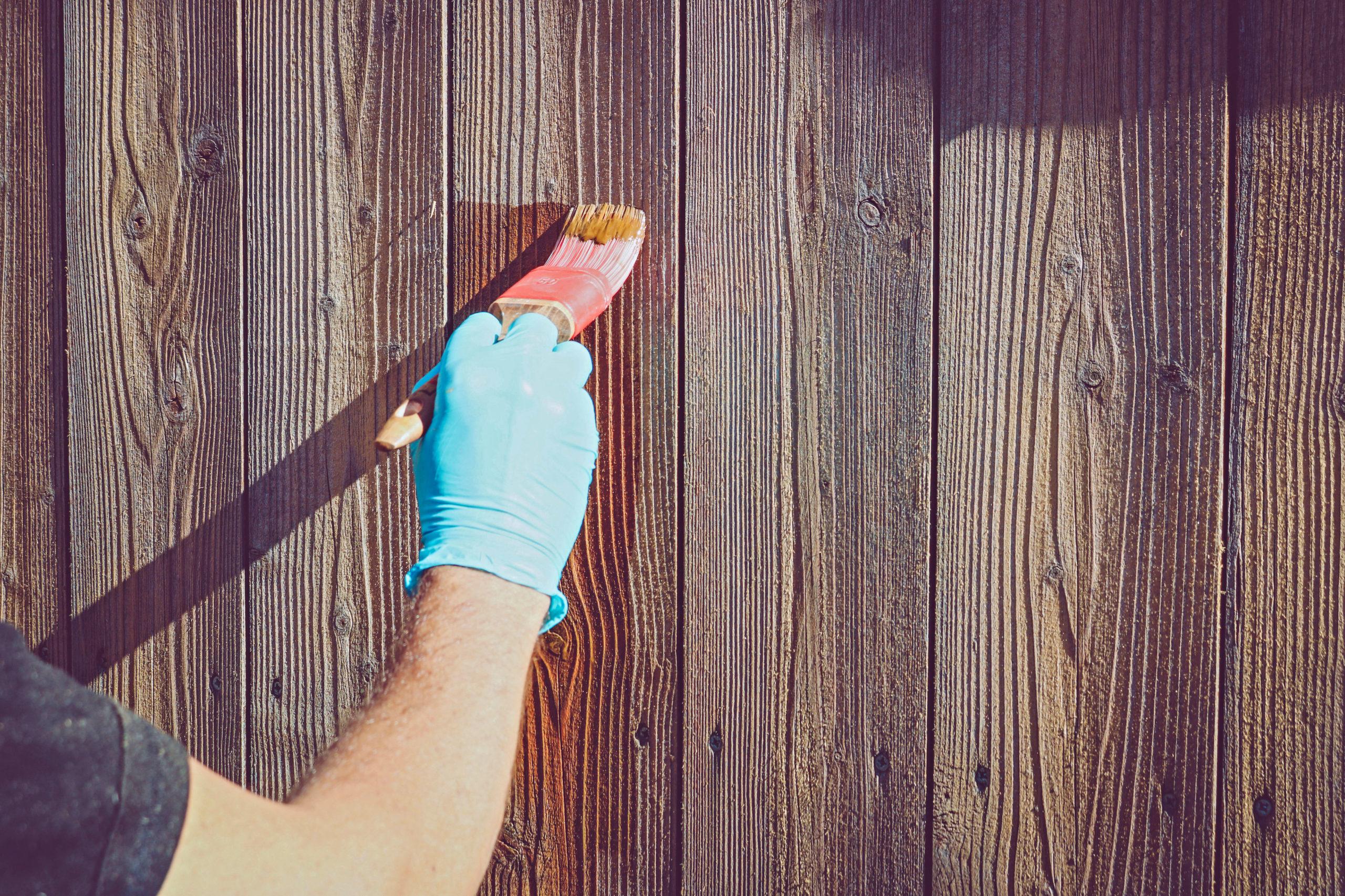 Holzzäune streichen