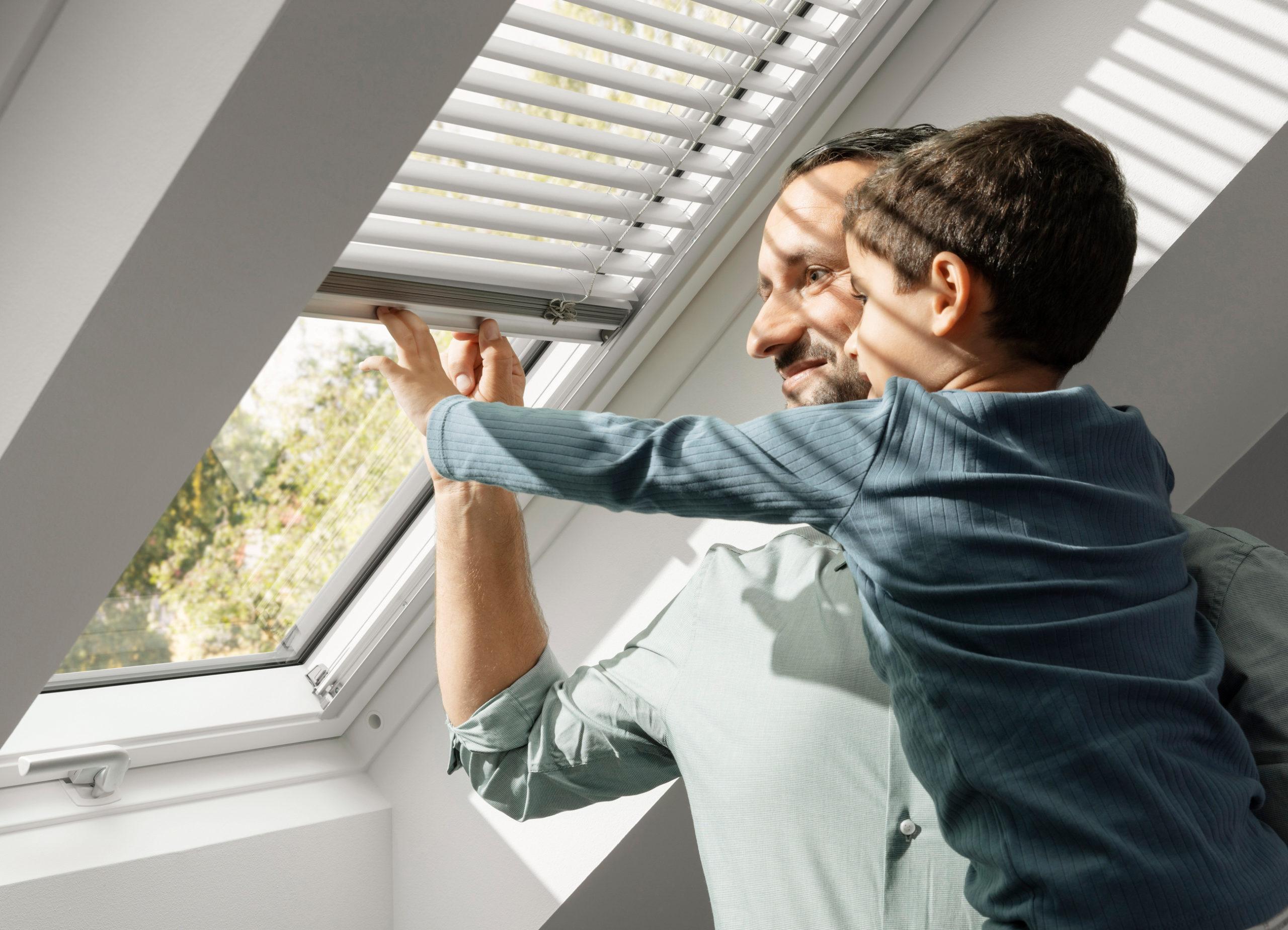 Sonnenschutz am Dachfenster
