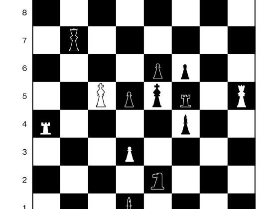 In drei Zügen ist der schwarze König matt.