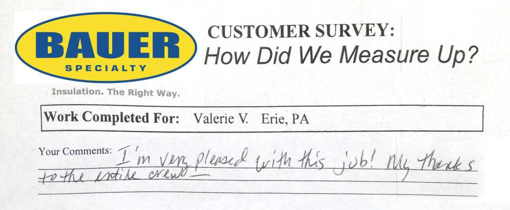 Another Happy and Satisfied Customer! - Bauer Specialty