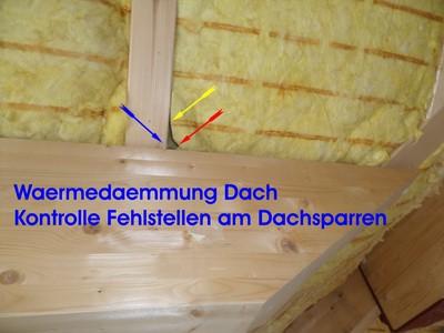 Waermedaemmung Dach pruefen