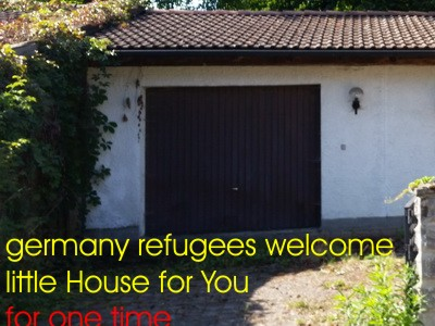Germany refugees welcme little House for You for one time