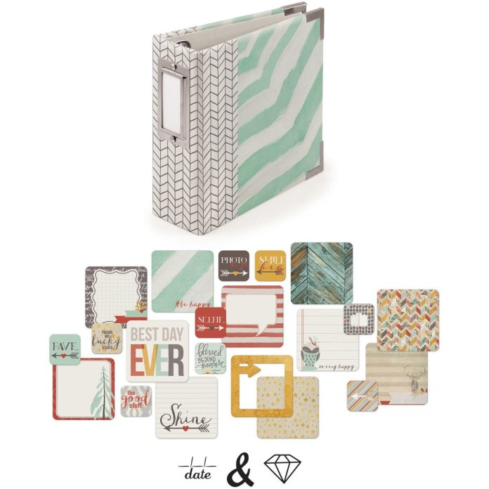 We R Memory Keepers Instagram Albums Made Easy Shine D-Ring 4x4 Album Kit