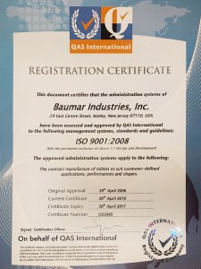 Iso 9001 Registered Firm 2017
