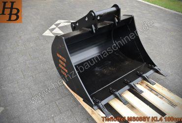 Tieflöffel Baggerlöffel Baggerschaufel 1000mm MS08 SW08 QC08 SY KL4