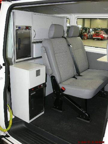 Holz-Innenausbau VW Messwagen
