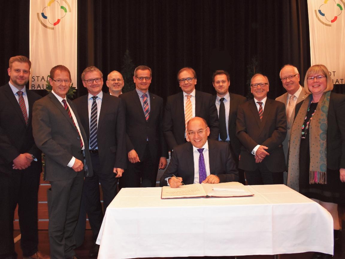 Bürgermeister Manfred Schaub startet in die dritte Amtszeit
