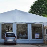 Nachrichten Baunatal - Aldi-Filiale City Baunatal ab 20.06. wegen Neubau geschlossen - Verkauf geht im Zelt (Parkstadion Baunatal) weiter