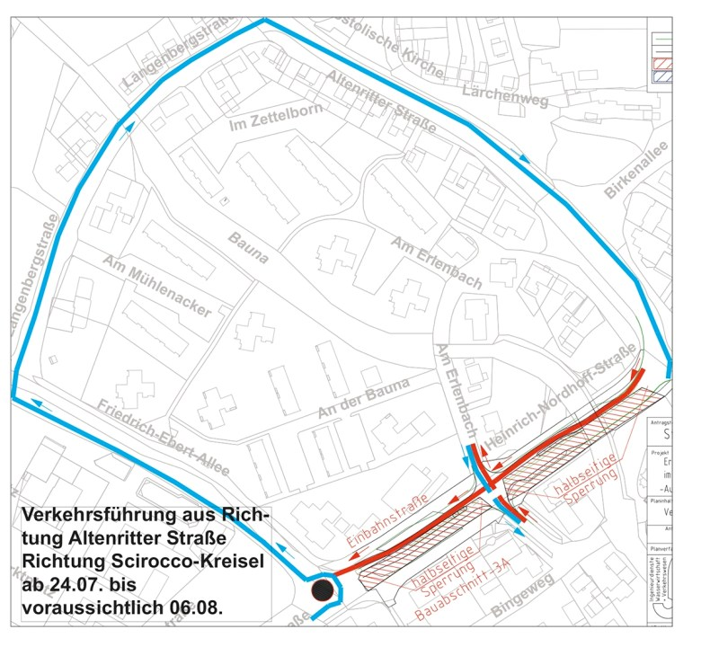 Verkehrsbehinderung Heinrich-Nordhoff Straße 2017