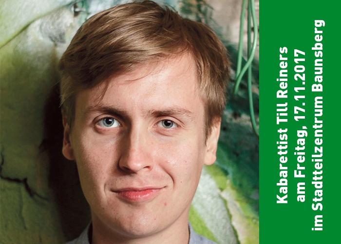 "Kabarett im Stadtteilzentrum Baunsberg: Till Reiners mit ""AUKTION MENSCH"""