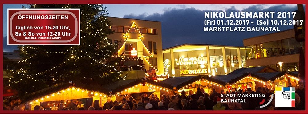 Alle Jahre wieder…kommt der Nikolausmarkt in die Baunataler City!