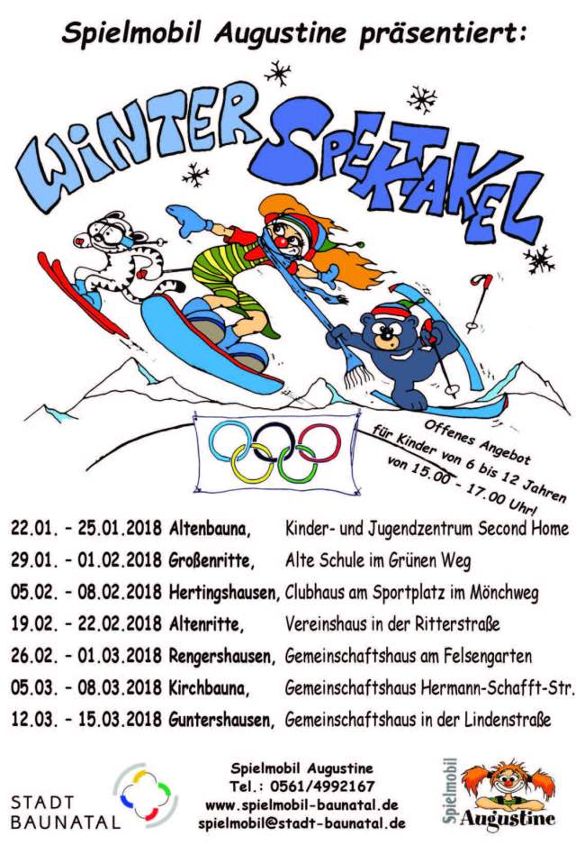 Winterspektakel Spielmobil Augustine 2018