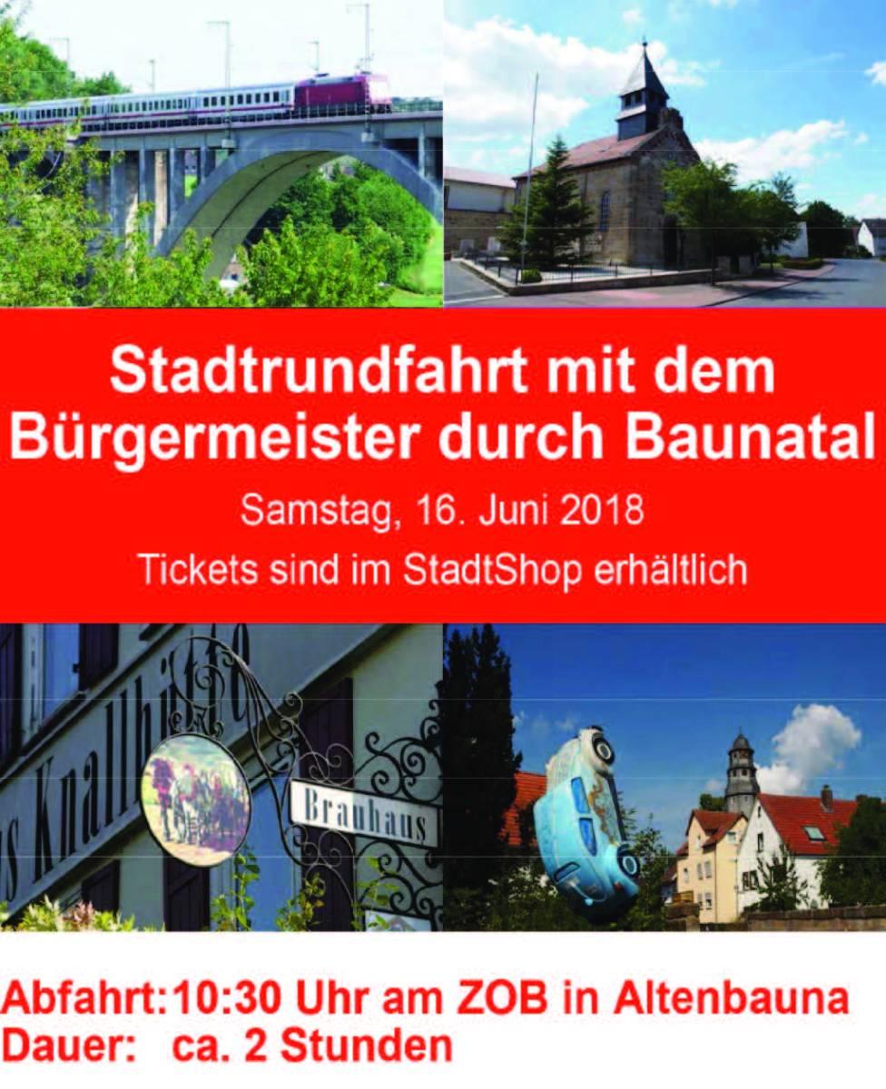 Stadtrundfahrt Baunatal mit dem Bürgermeister als Reiseleiter